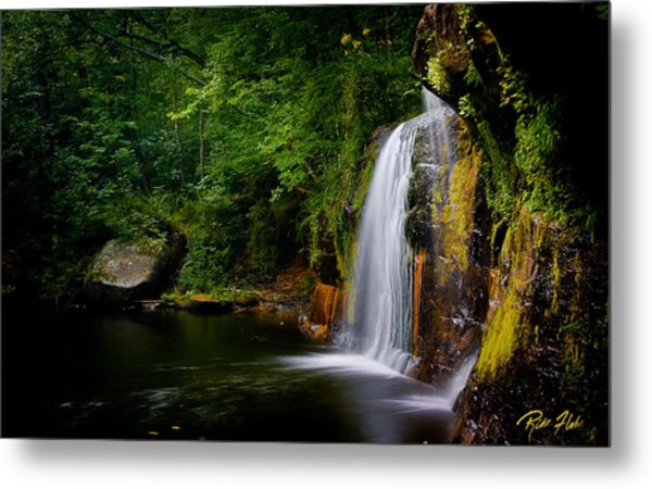 Summer At Wolf Creek Falls Metal Print