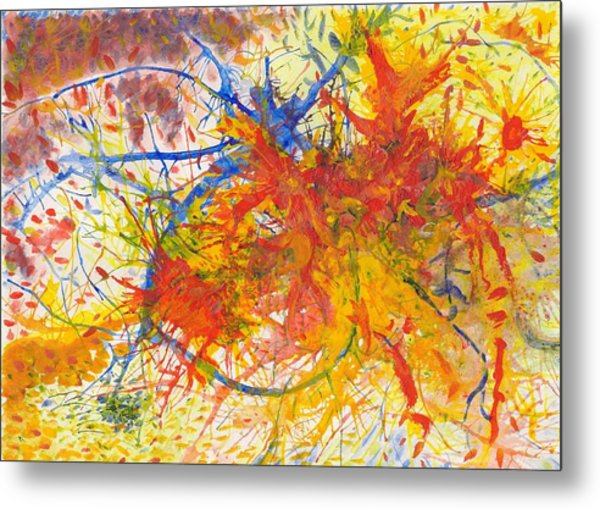 Summer Branches Alfame With Flower Acrylic/water Metal Print