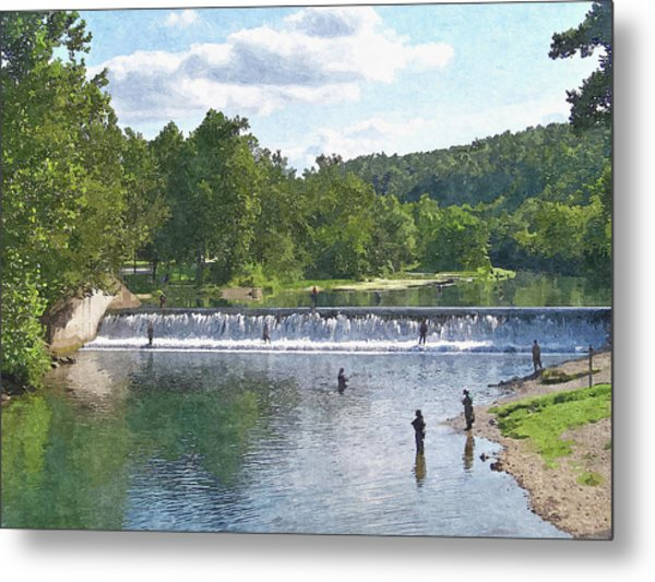 Summer By The Spillway Metal Print