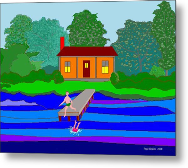 Summer Cabin Metal Print