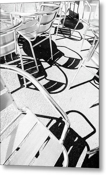Summer Chair Pattern Metal Print
