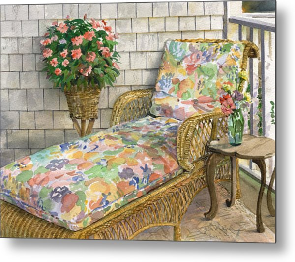 Summer Chaise Metal Print