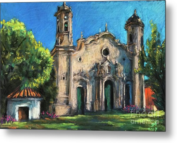 Summer Church Metal Print