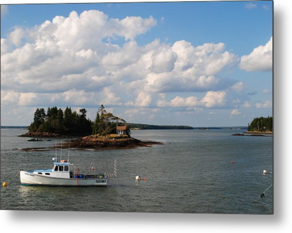 Summer Clouds Downeast Metal Print by Steven Scott