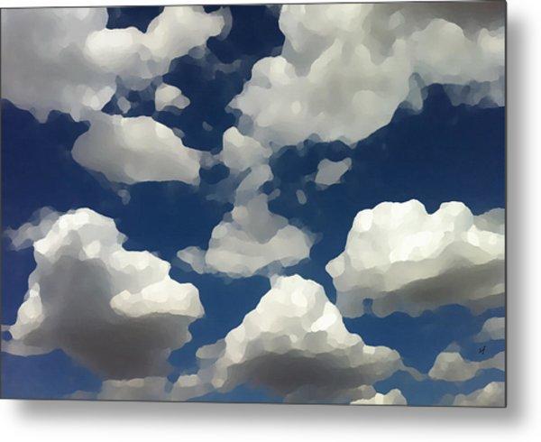 Summer Clouds In A Blue Sky Metal Print