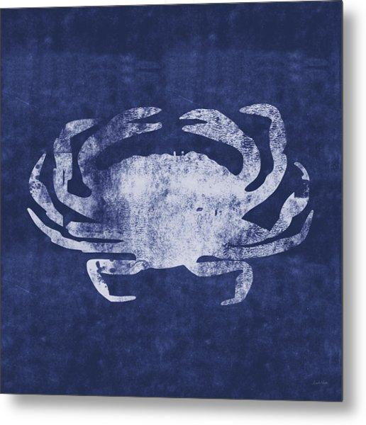 Summer Crab- Art By Linda Woods Metal Print