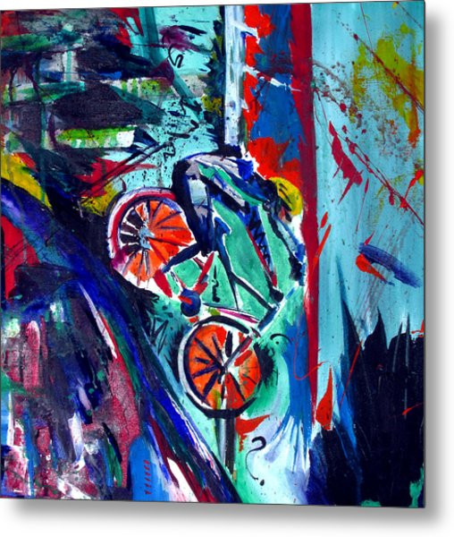 Summer Cycling Metal Print