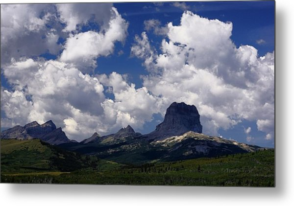 Summer Day At Chief Mountain Metal Print