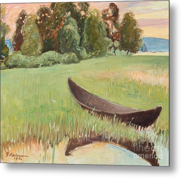 Summer Evening By The Shore Metal Print
