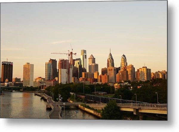 Summer Evening In Philadelphia Metal Print