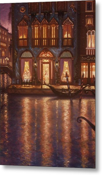 Summer Evening In Venice Metal Print by Scott Jones