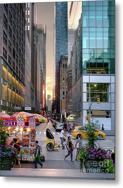 Summer Evening, New York City  -17705-17711 Metal Print