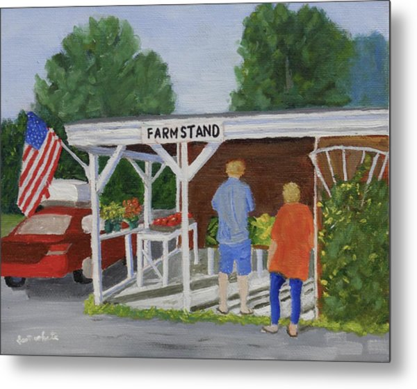Summer Farm Stand Metal Print