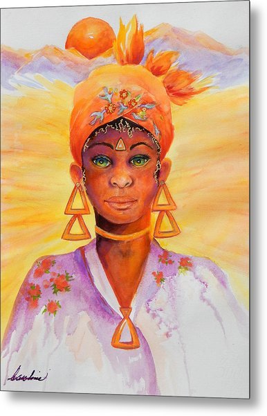 Summer Goddess Metal Print