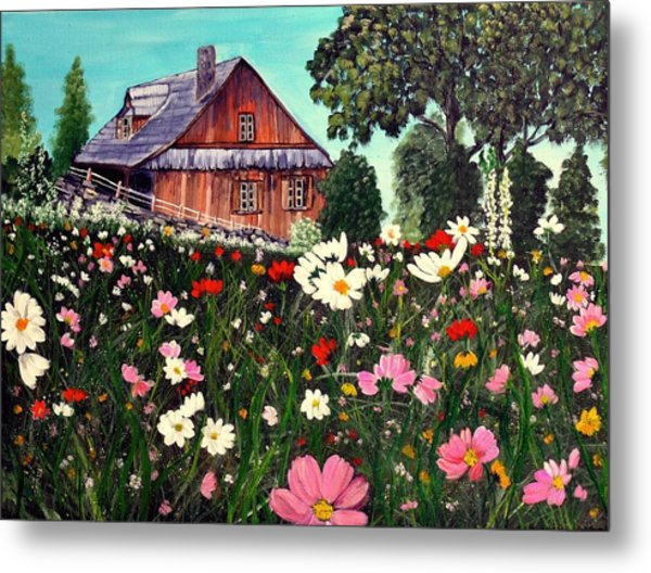 Summer House Metal Print by Dia Spriggs