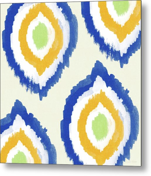 Summer Ikat- Art By Linda Woods Metal Print