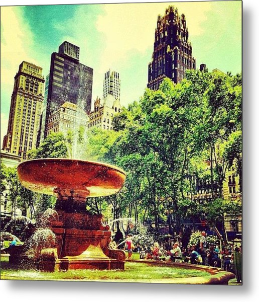 Summer In Bryant Park Metal Print