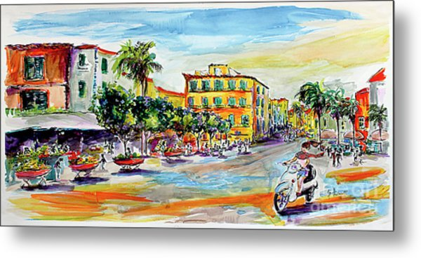 Summer In Sorrento Italy Travel Metal Print