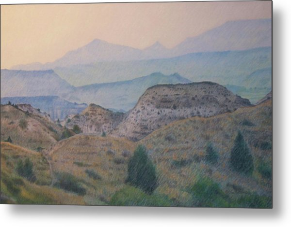Summer In The Badlands Metal Print