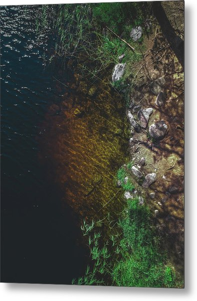 Summer Lake - Aerial Photography Metal Print