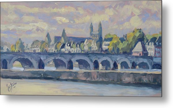 Summer Maas Bridge Maastricht Metal Print