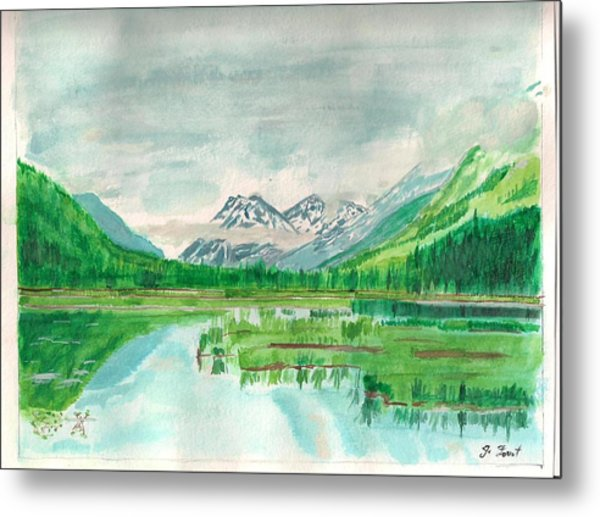 Summer Of Alaska Metal Print by Jashobeam Forest