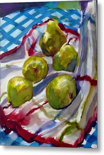 Summer Pears Metal Print by Doranne Alden