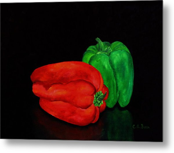Summer Peppers Metal Print