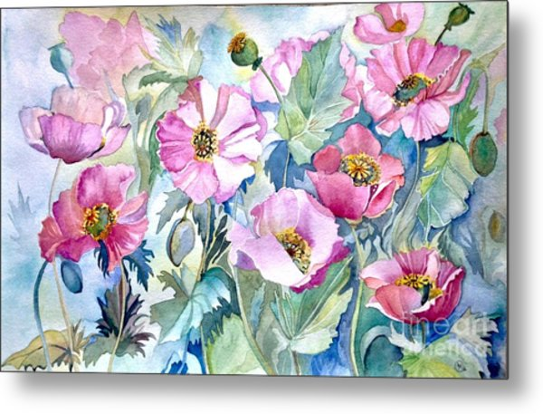 Summer Poppies Metal Print