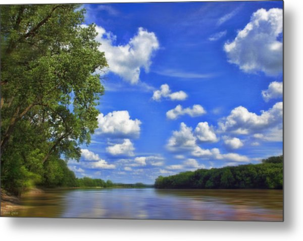 Summer River Glory Metal Print