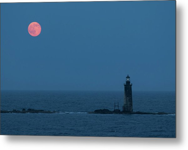 Summer Solstice Strawberry Moon Metal Print