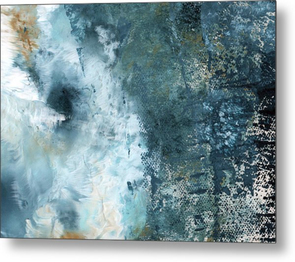 Summer Storm- Abstract Art By Linda Woods Metal Print