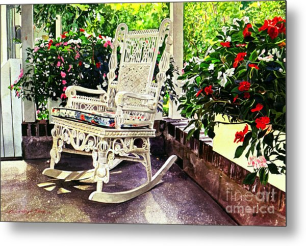 Summer Sun Porch Metal Print by David Lloyd Glover