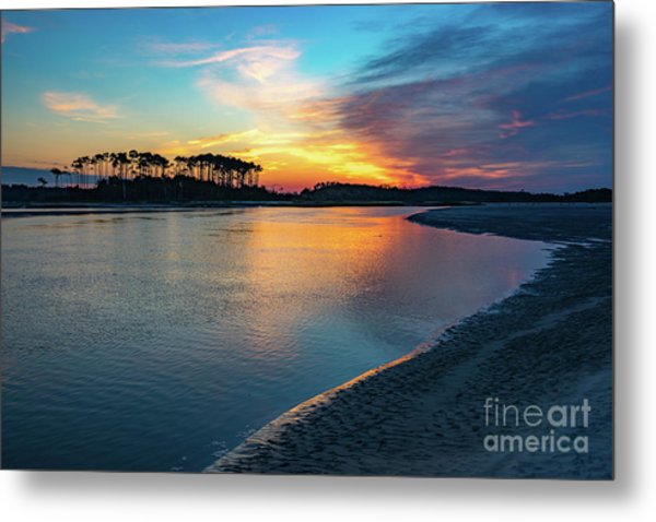 Summer Sunrise At The Inlet Metal Print