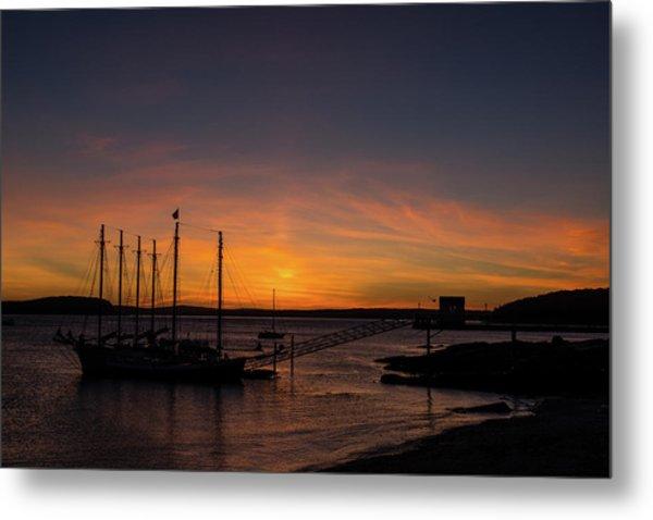Summer Sunrise In Bar Harbor Metal Print
