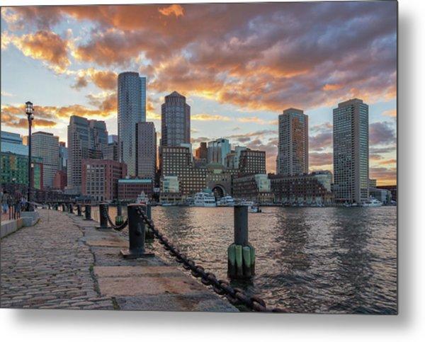 Summer Sunset At Boston's Fan Pier Metal Print