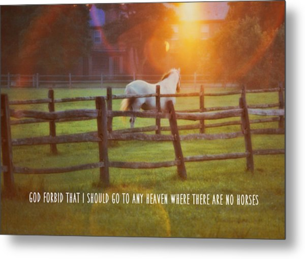 Summer Sunset Quote Metal Print