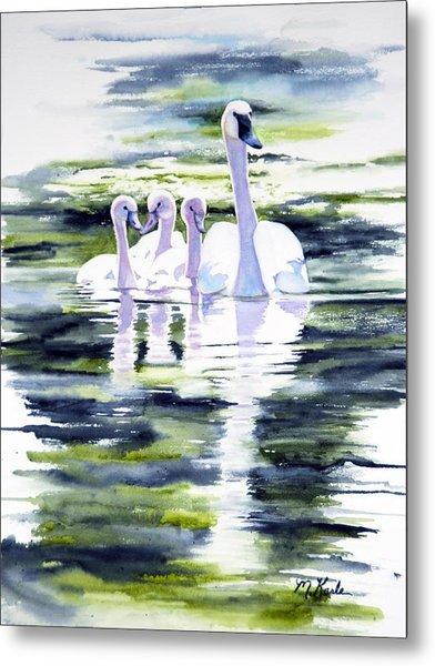 Summer Swans Metal Print