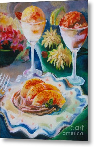 Metal Print featuring the pastel Summer Treats by Donna Hall