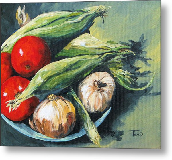 Summer Vegetables  Metal Print by Torrie Smiley