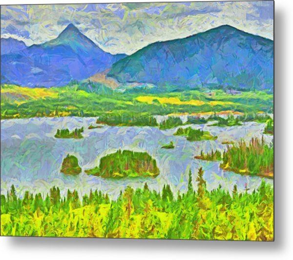 Summer View Of Lake Dillon In The Colorado Rocky Mountains Metal Print