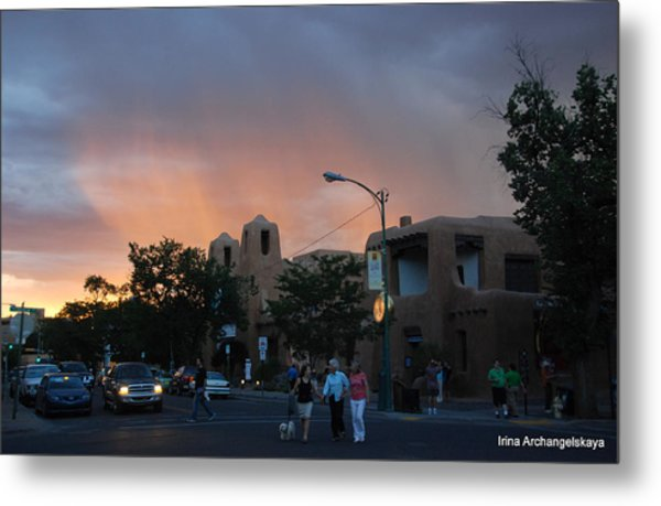 Summer Walk In Santa Fe  Metal Print