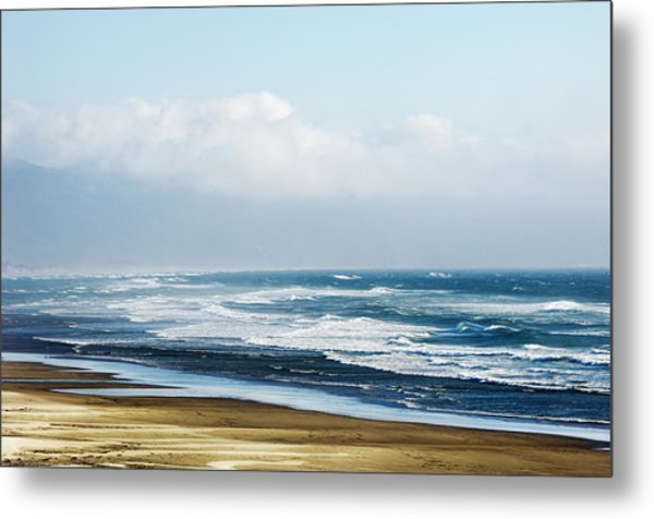 Summer Waves Netarts Oregon Metal Print