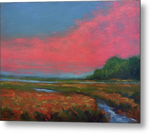 Summer Wetlands - To The Gulf Metal Print