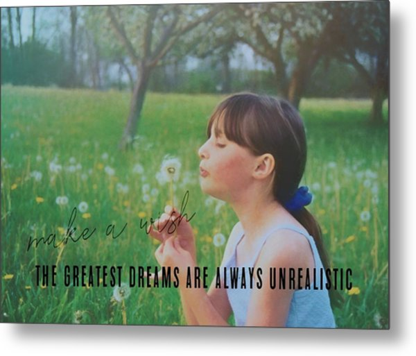 Summer Wish Quote Metal Print by JAMART Photography