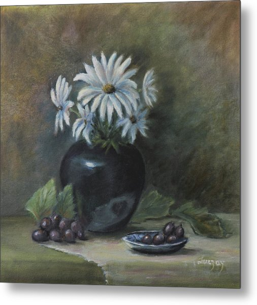 Metal Print featuring the painting Summer's Delight by Katalin Luczay