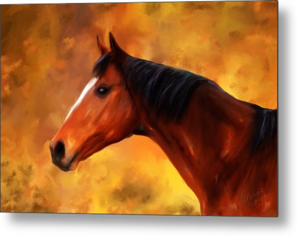 Summers End Quarter Horse Painting Metal Print