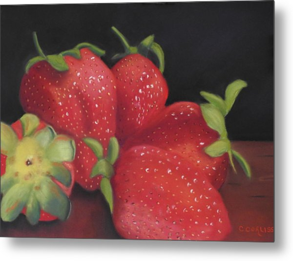 Summer's Red Gems Metal Print
