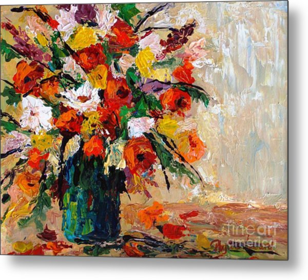 Metal Print featuring the painting Summer's Riot by Phyllis Howard