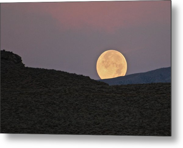 Summers Super Moon Metal Print